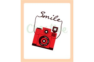 Retro Camera Smile Wallpaper