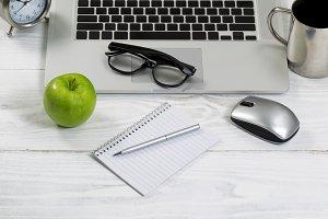 Laptop on desktop
