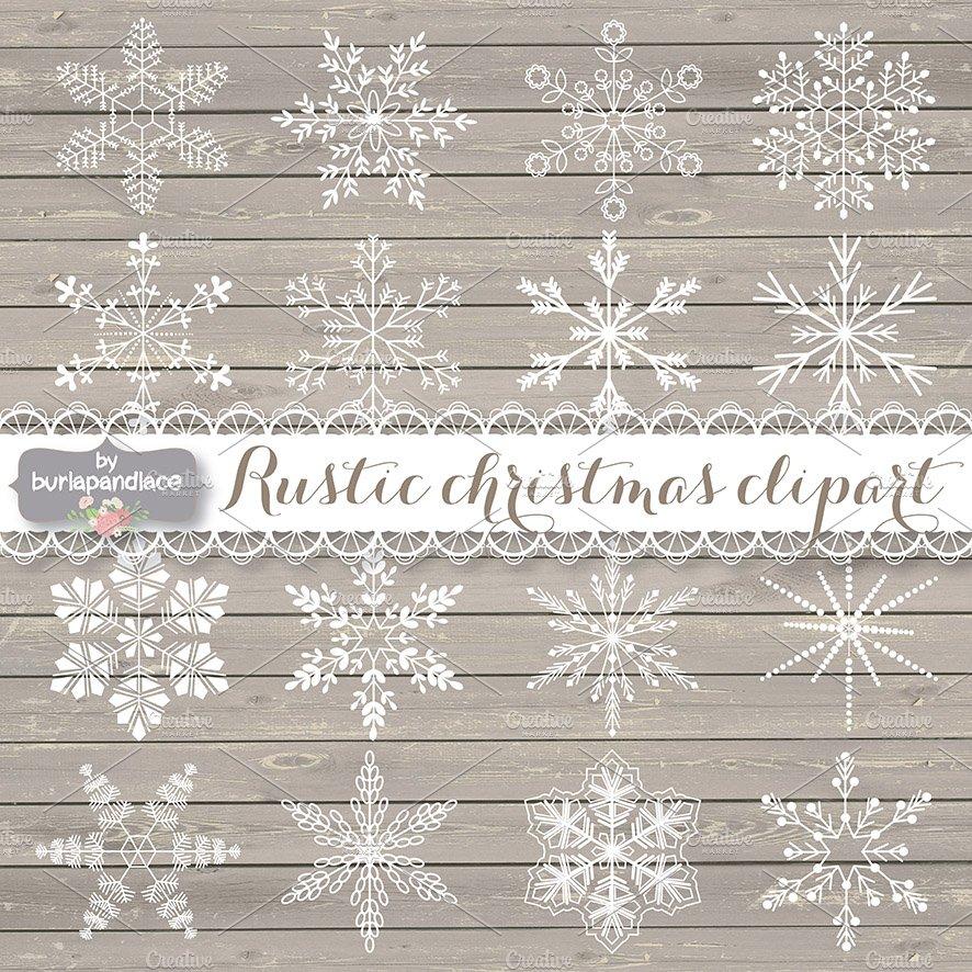 Vector Rustic Christmas Clipart Illustrations Creative Market