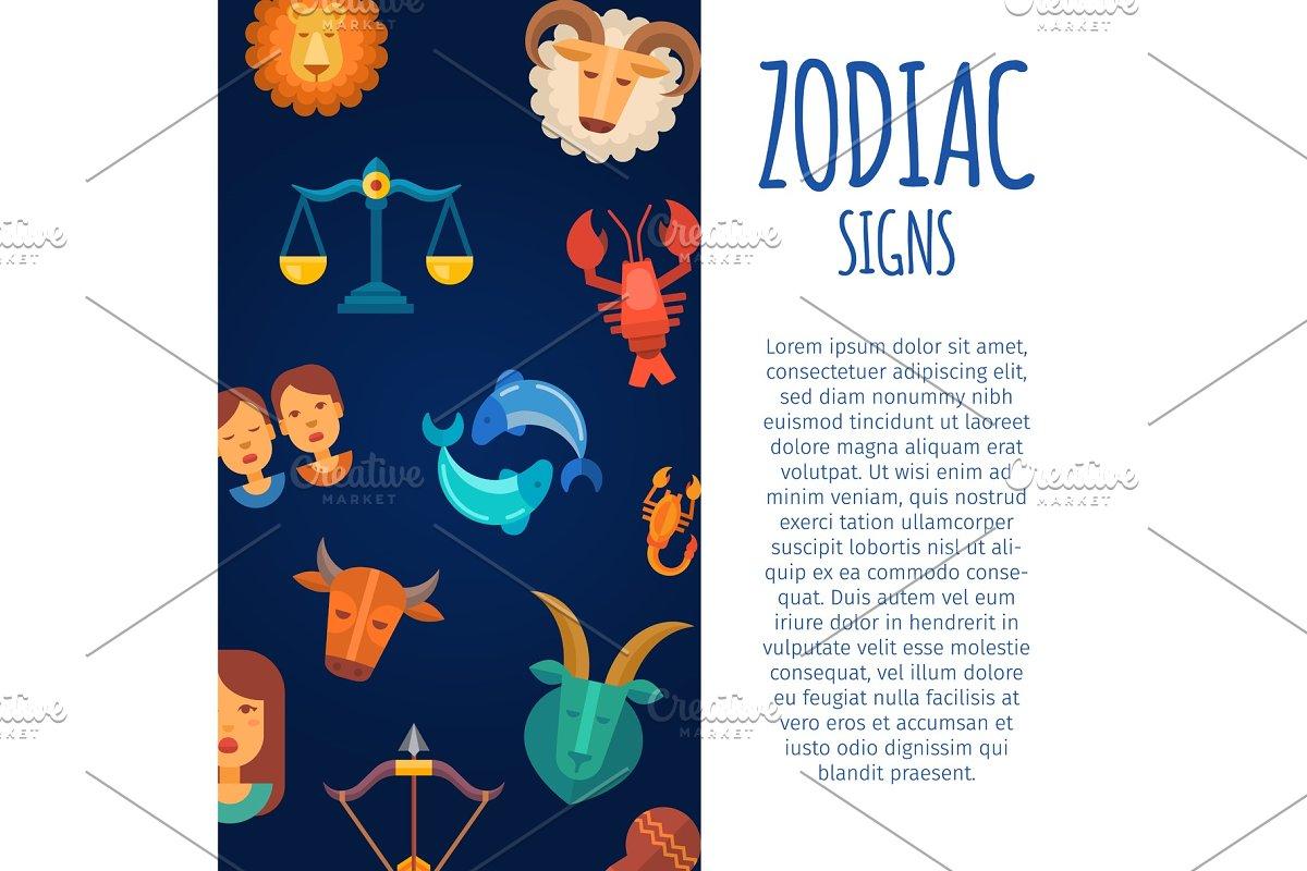 Zodiac signs on dark skies