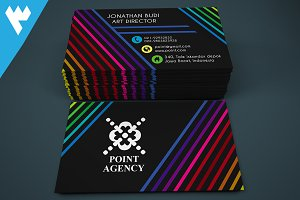 Modern Colorful Line Business Card