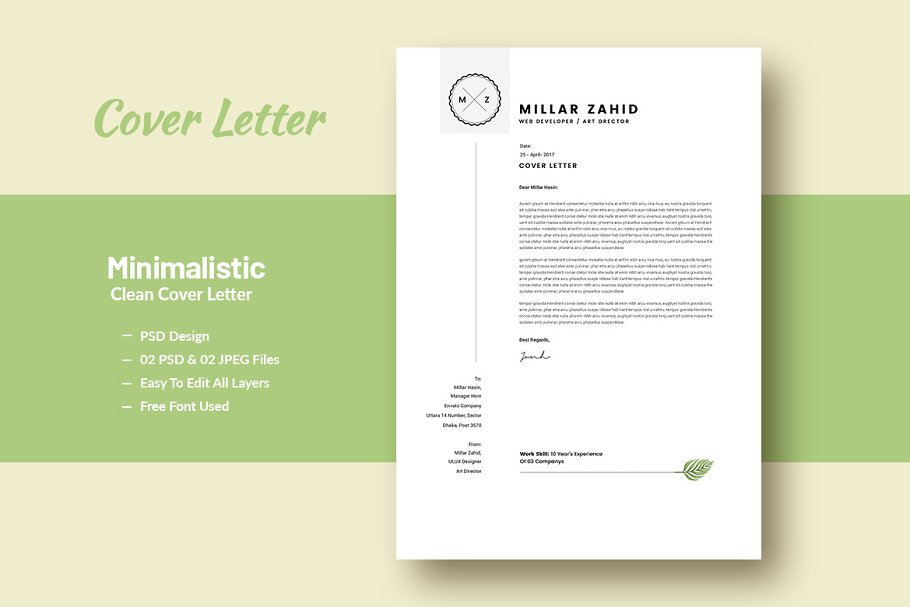 Minimalistic Clean Cover Letter