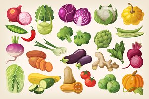 Common Vegetables in a Grocery Store