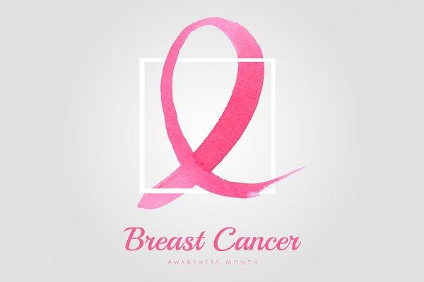 Pink Ribbon Breast Cancer Awareness Pre Designed Illustrator Graphics Creative Market