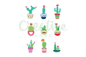 Cactus Vector Collection