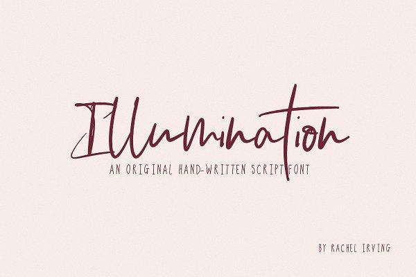 Illumination | Script Font
