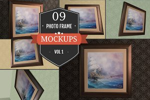 Superb Photo Frame PSD Mockups Vol.1
