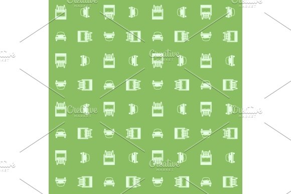 Car and truck. Seamless pattern