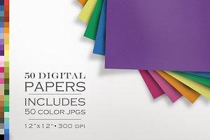 50 Piece Linen Paper Texture Pack