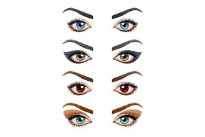 Womans eyes with make-up