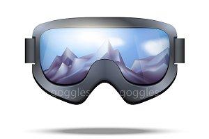 Classic snowboard goggles