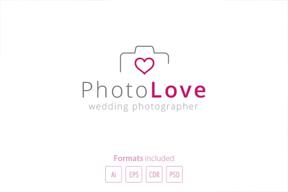 Photography Love - Logo Template in Logo Templates - product preview 1