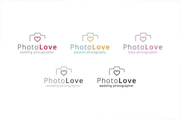 Photography Love - Logo Template in Logo Templates - product preview 3