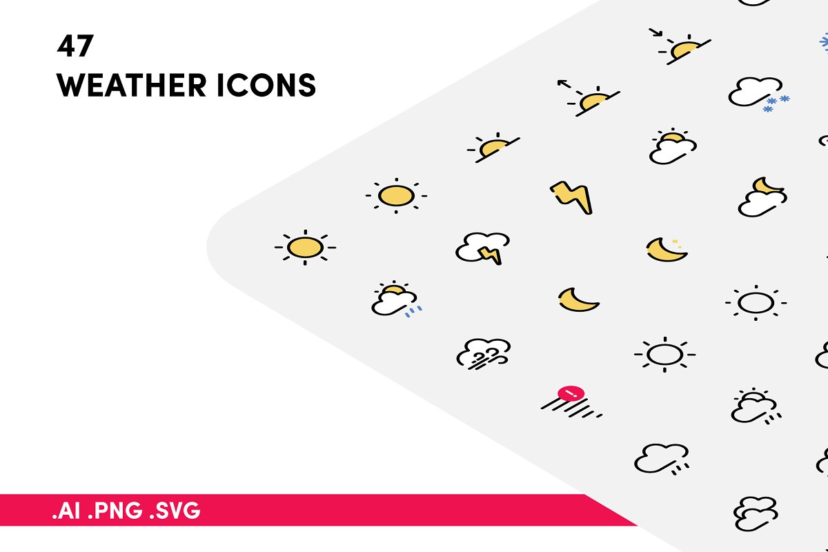Weather Icon Pack in Icons Packs - product preview 8