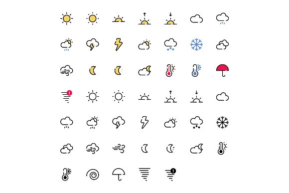 Weather Icon Pack in Icons Packs - product preview 1