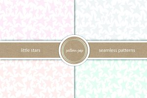 Seamless Little Stars Pattern Pack