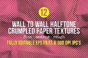 Crumpled Paper Halftone Backgrounds