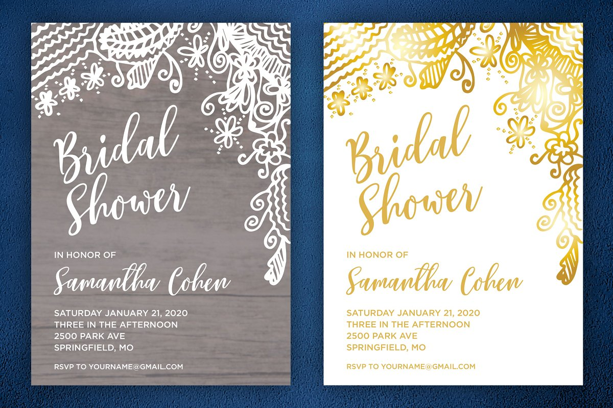 Wedding Shower Invitations.Gorgeous Bridal Shower Invite Pack