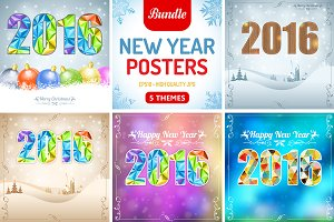 Retro New Year Posters