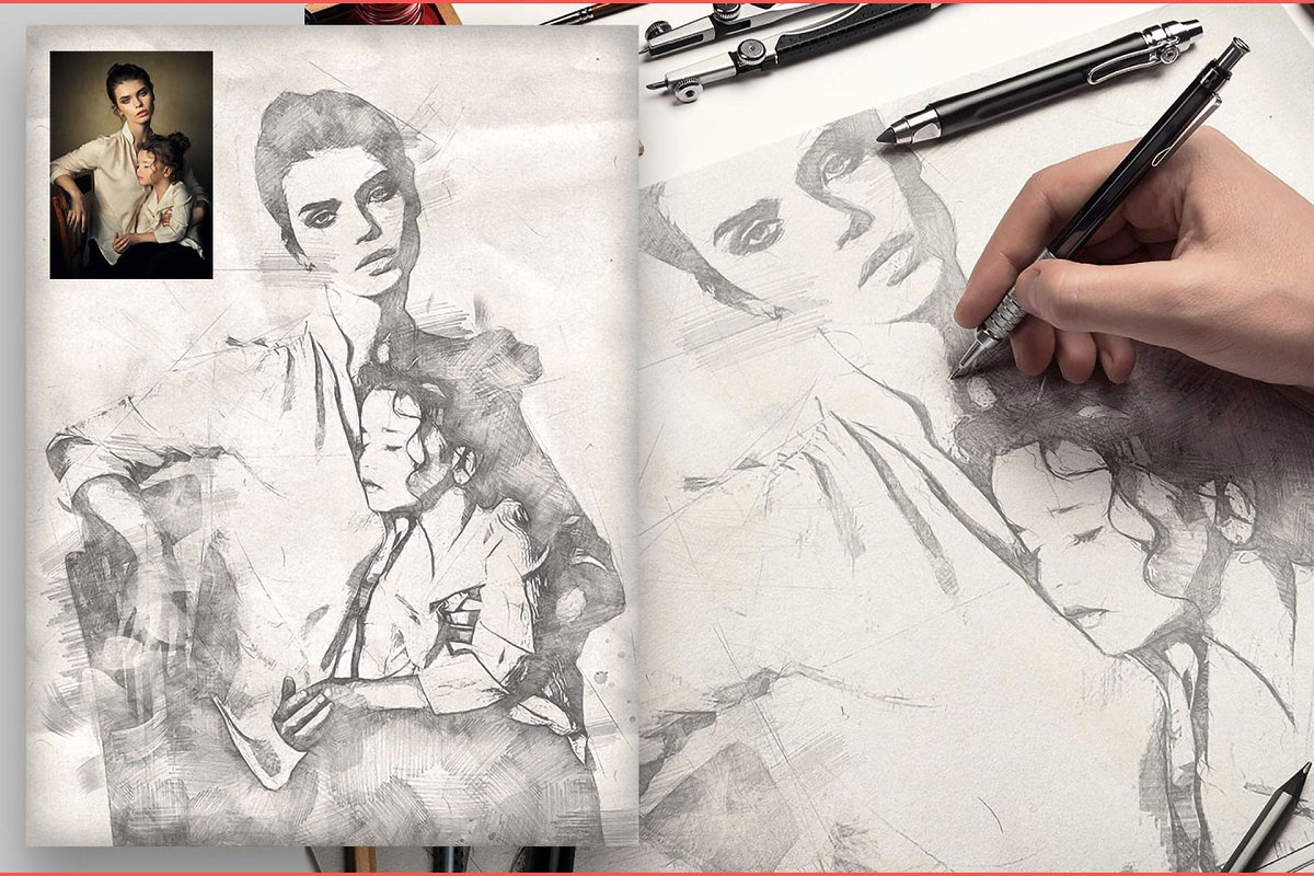 Realistic Pencil Sketch CS3+