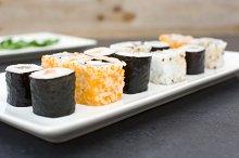Salmon and caviar rolls
