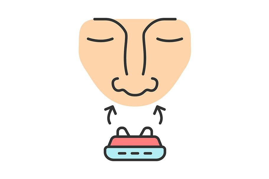Anti snoring device color icon