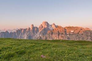 Sunrise in the Dolomites