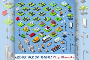 City Map Elements - Urban Set
