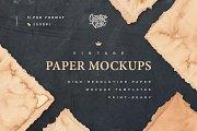 Vintage Paper Mockup Set
