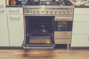 Big stainless steel stove