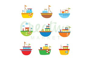 Cute Little Boat Vector
