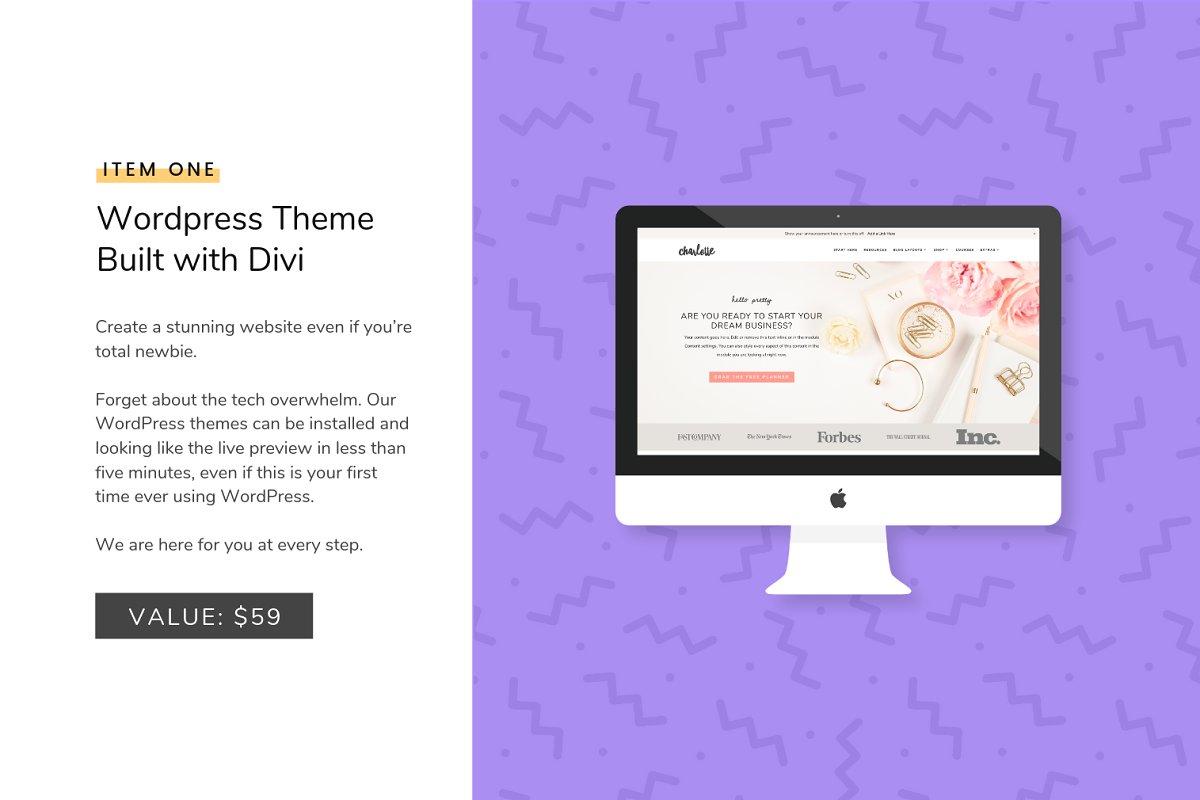 Wordpress Quickstart Bundle - Divi in WordPress Business Themes - product preview 1