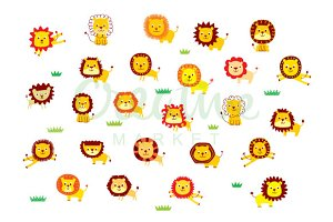 Lion Vector Set
