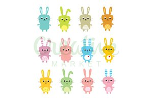 Cute Rabbit Bunny Vector
