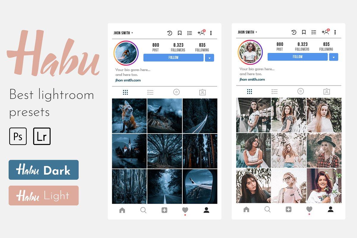 Habu Instagram Lightroom Presets