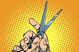 Scissor hand Barber