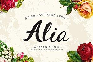 Alia - Hand lettered font -