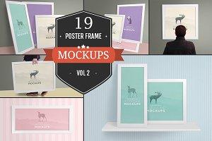 Elegant Poster Frame Mockups Vol. 2