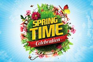 3D Spring & Summer Logo Templates