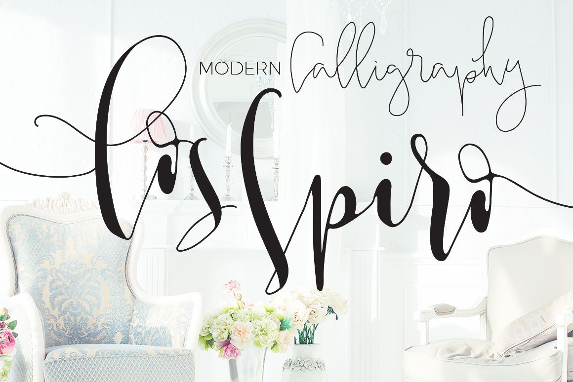 Los spiro smooth modern calligraphy script fonts