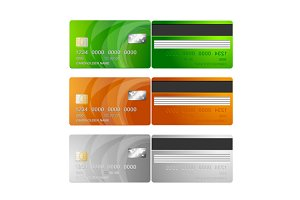 VIP Credit Cards Set. Vector
