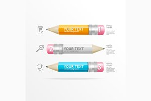 Pencil Infographics for Business