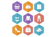Shopping Icon Set. Vecror