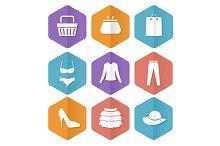 Shopping Icon Set. Vecror