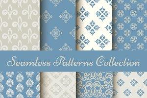 Set of classic seamless patterns