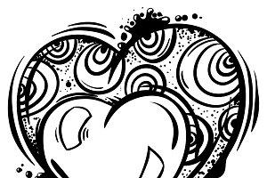 Heart in line art style.