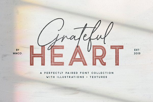 Grateful Heart Font Collection