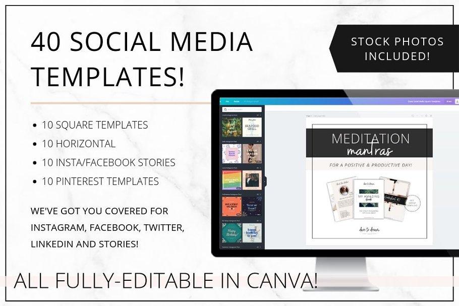 Social Media & Pinterest Canva Fresh