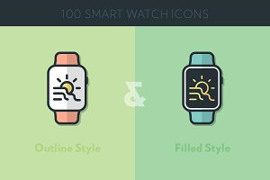 100 Smart Watch Icons