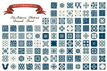 Collection of 100 Seamless Patterns